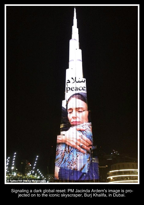 Ardern projected in Dubai