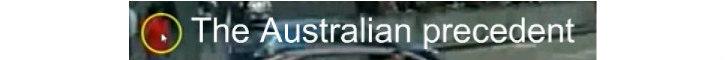The Australian Precedent banner