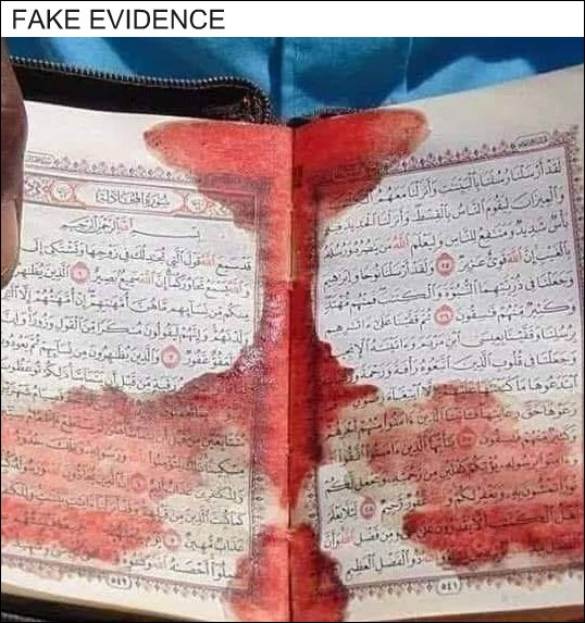 Blood on Quran