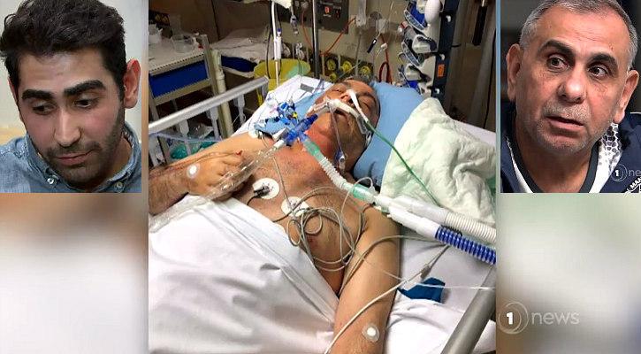 Adeeb Sami in hospital bed