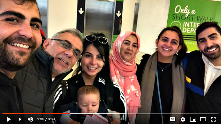 More hilarity: Adeeb Sami and family apparently at Auckland Airport.