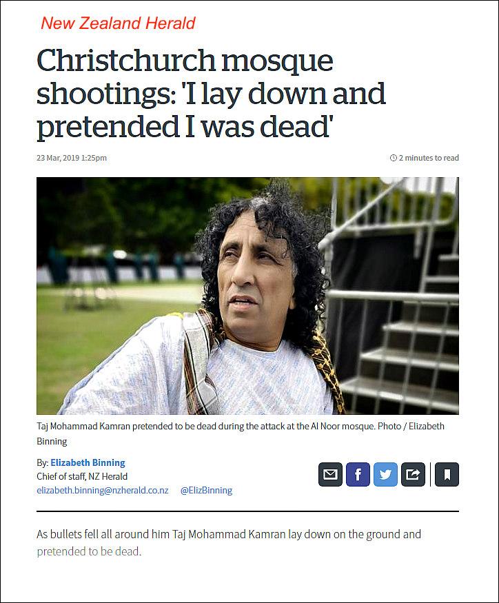 Taj Mohammad Kamran in NZ Herald
