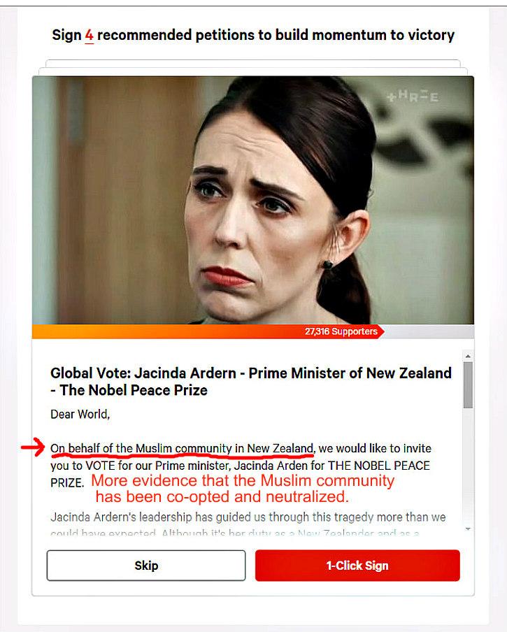 Nobel Prize sought for Ardern