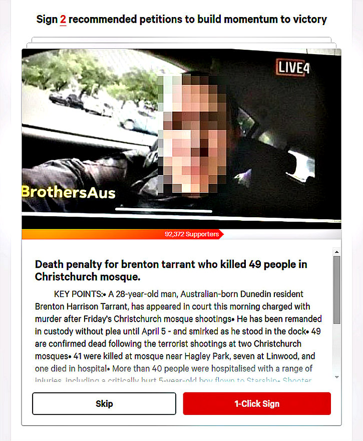 Death sought for Tarrant